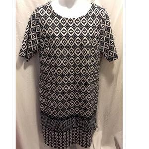 Size 18 Ile New York Dress Navy & White
